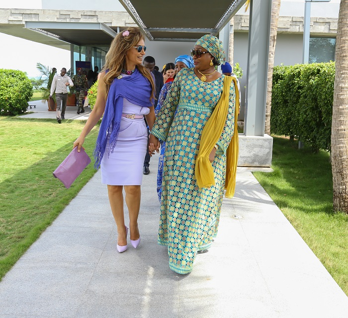 Dr. Rasha Kelej, CEO of Merck Foundation and President, Merck More Than a Mother with The First Lady of Guinea, H.E. DJENE CONDÉ