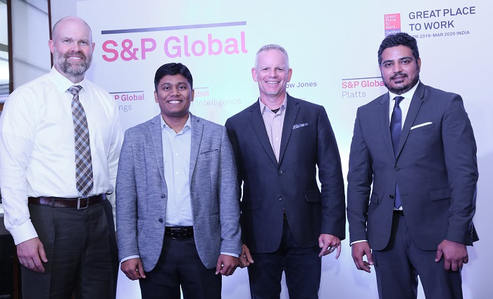 (L to R): Marcus Daley, Chief Technology Officer, S&P Global Ratings, Guruprasad Ramamoorthy, Orion Site Lead- India, S&P Global, Nick Cafferillo, Chief Data Technology Officer, S&P Global and Abhishek Tomar, Managing Director - India Operations, S&P Global at the opening of New Orion Office in Hyderabad.