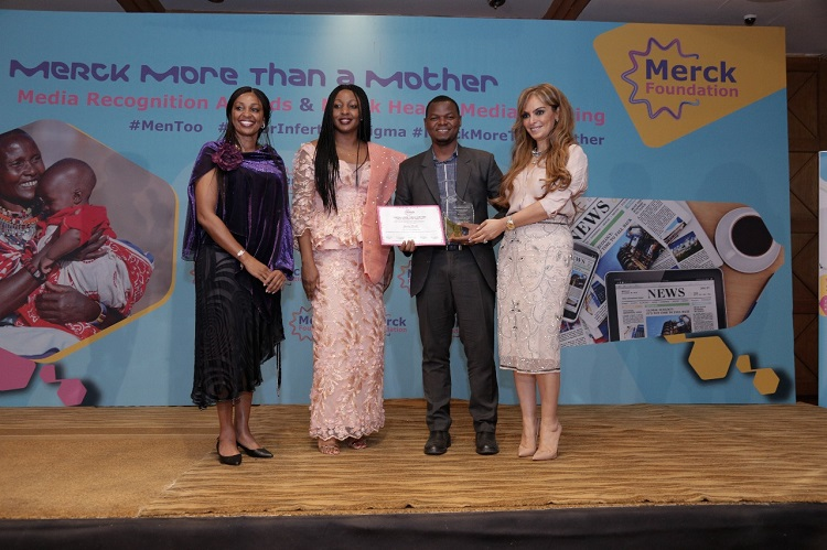 Ms. Renee Ngamau, Radio Host/Life Coach, Capital FM; Ms. Carole Mandi, Founder/ Publisher, Carole Mandi Media; Mr. Gardy Chacha, Senior Health & Science Reporter, Standard Newspaper, Kenya (First Award Winner, Print Media category);  Dr. Rasha Kelej, CEO, Merck Foundation and President Merck more Than a Mother