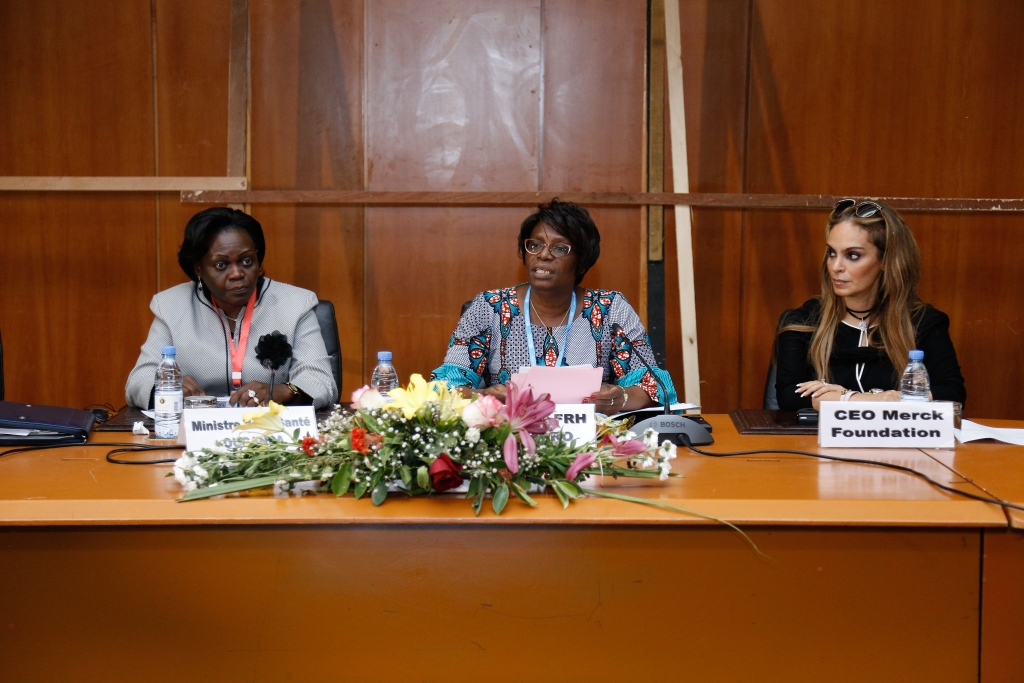 Dr. Rasha Kelej, CEO of Merck Foundation during the WHO Regional Meeting for African Ministers of Health in Dakar