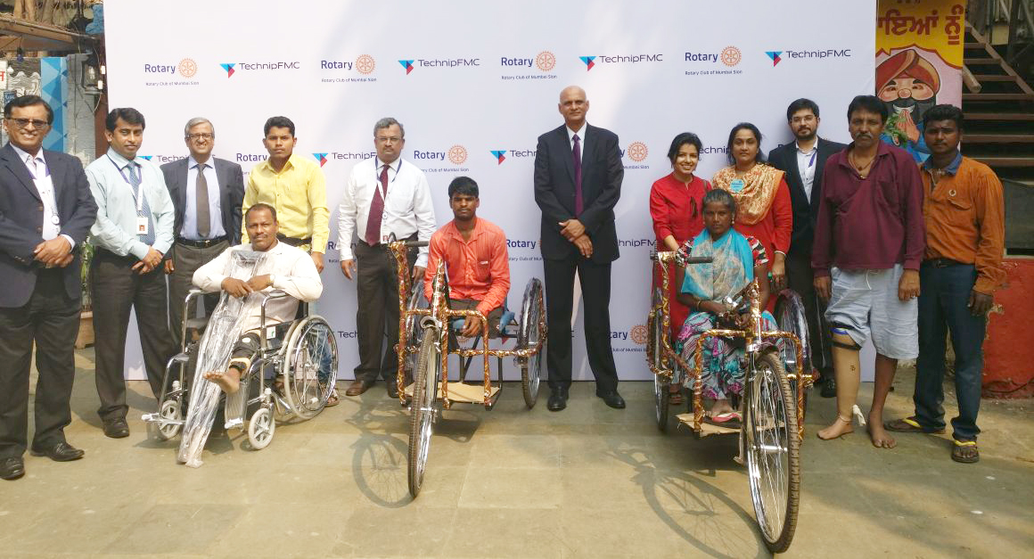 Technip India team with beneficiaries