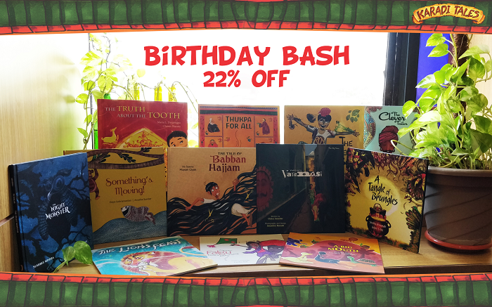 Celebrating Karadi's #BigBirthdayBash with 22% discount on all of our books. Please visit www.karaditales.com