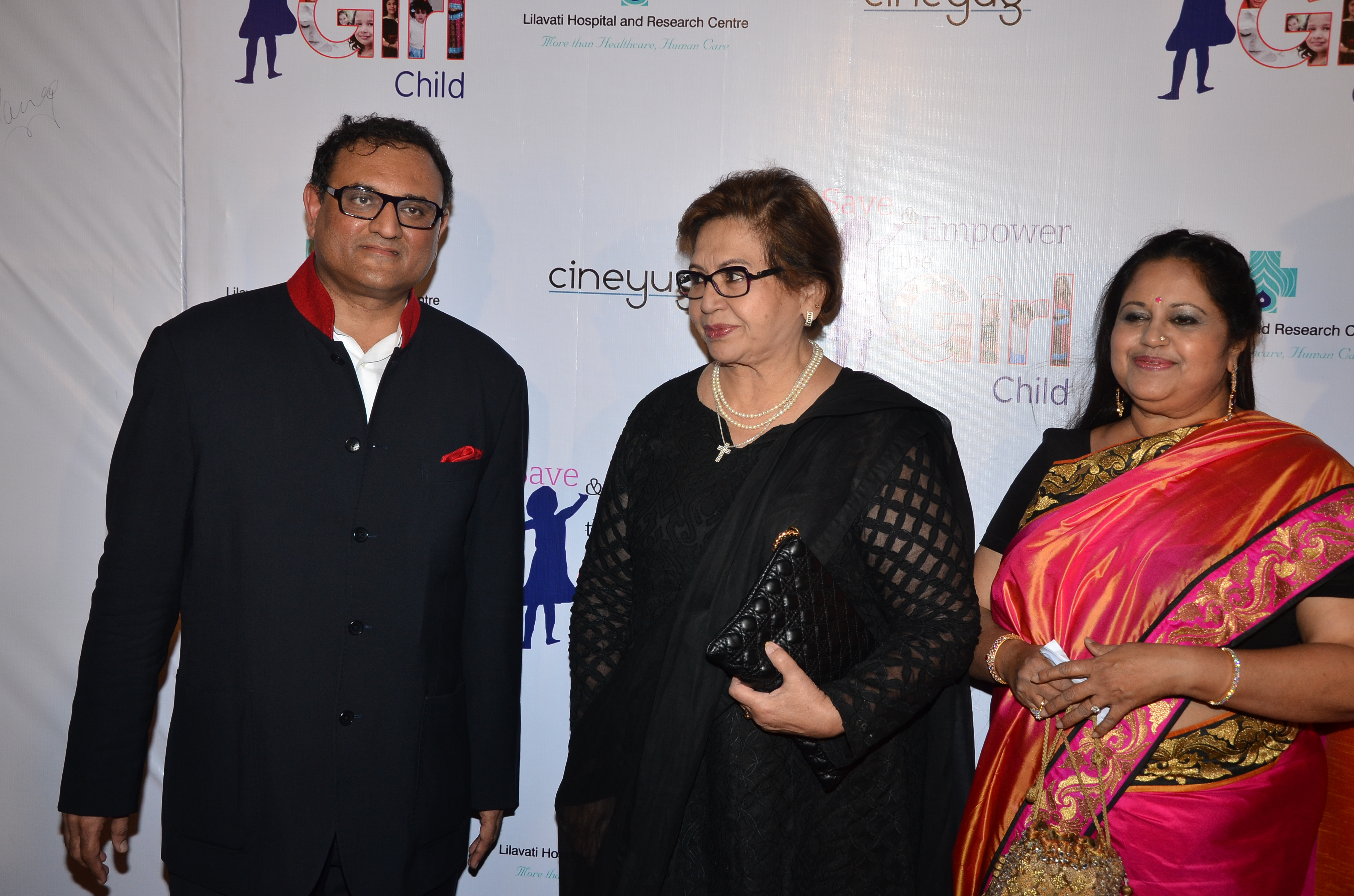 Mr Chetan P Mehta,Reporting Trustee,Lilavati Hospital with Legandary actress Helen and Dr Kiran Coelho,Gynaecologist, Lilavati Hospital