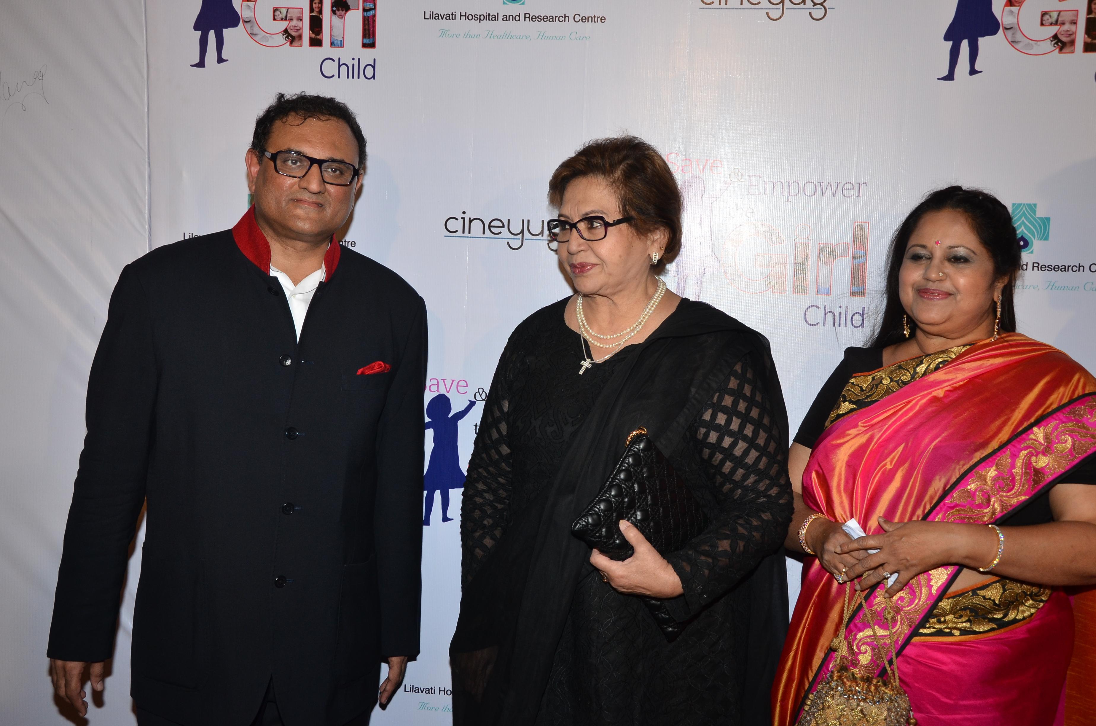Mr Chetan P Mehta,Reporting Trustee,Lilavati Hospital with Legandary actress Helen and Dr Kiran Coelho,Gynaecologist, Lilavati Hospital