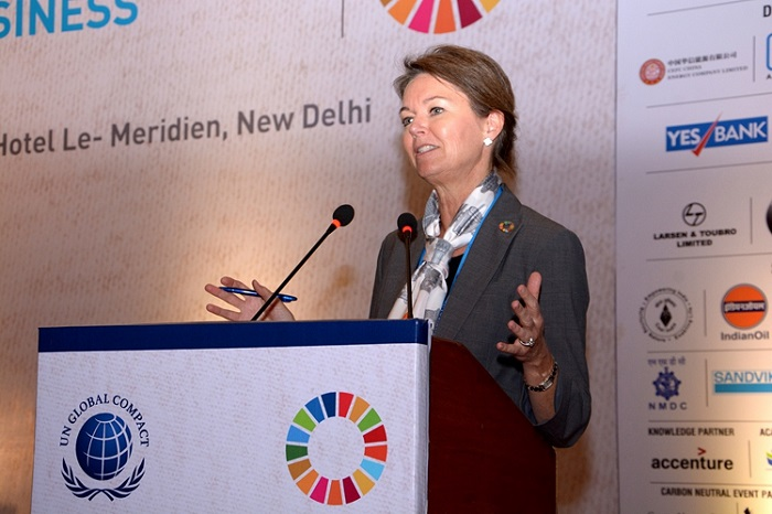 <b>Lise Kingo, CEO and Executive Director of the United Nations Global Compact</b>&#8220;></td> </tr> <tr> <td width=