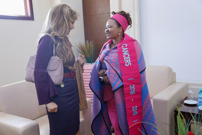 Dr. Rasha Kelej, CEO of Merck Foundation and President of Merck More Than a Mother with H.E. DR. MAESAIAH THABANE, The First Lady of the Kingdom of Lesotho and Ambassador of Merck More Than a Mother.
