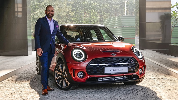 Mr. Rudratej Singh with the new MINI Clubman Indian Summer Red Edition