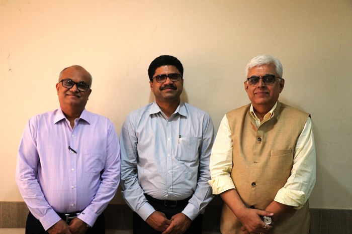 During the the meeting of National Committee on Textiles & Clothing (NCTC) held recently in Mumbai, seen left to right, Shri Manoj Patodia, Vice Chairman -TEXPROCIL, Shri T. Rajkumar, Chairman - CITI and Dr. Siddhartha Rajagopal, Executive Director -TEXPROCIL