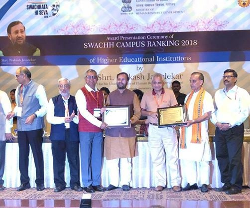 NIIT University (NU) ranks among top 10 cleanest residential Technical Universities of India under the aegis of PM Modi's Swachh Bharat Mission
