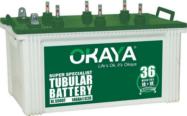 Okaya Super Specialist Tubular Battery XL5500T