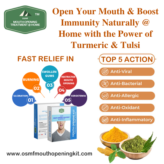Open the Mouth and Boost Immunity Naturally with the power of Turmeric and Tulsi During Lockdown