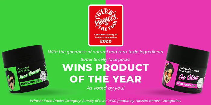 Super Smelly?s Miraculous Range of Face Packs wins Product of the Year 2020