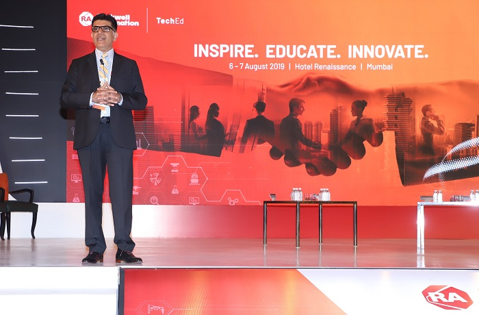 Dilip Sawhney, Managing Director, Rockwell Automation India at TechED 2019 Mumbai