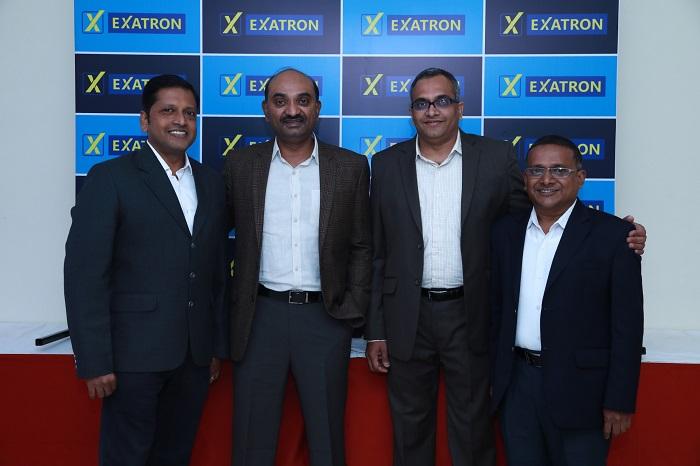 (L-R) Tom Sebastian (Director Supply Chain Management and Customer Support), Kalyan Muppaneni (Director of Exatron & Founder and CEO of Pi Data Centers), B. Suryanarayanan (CEO- Exatron) & Venkata Rama Krishna (Director of Factory Operations, Exatron)