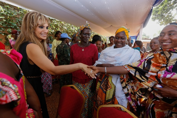 .E. MADAM BRIGITTE TOUADERA, The First Lady of Central African Republic and Dr. Rasha Kelej, CEO of Merck Foundation & President, Merck More Than a Mother during their special meting with more than 100 infertile women.