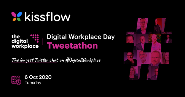 Kissflow joins the Digital Workplace Day Tweetathon as a Platinum partner
