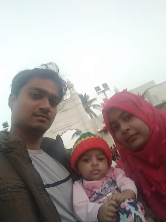 9 months old Mohd. Konain Ansari with his parents.
