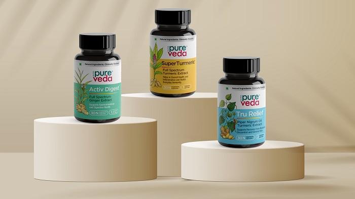PureVeda Nutraceuticals Range - Activ Digest, Super Turmeric and Tru Relief