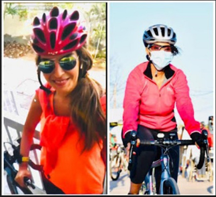 Dr. Rasha Kelej virtually joined Botswana First Lady during her cycling tour as part of STOP GBV and marked the International day of 'Elimination of violence against Women and Girls'