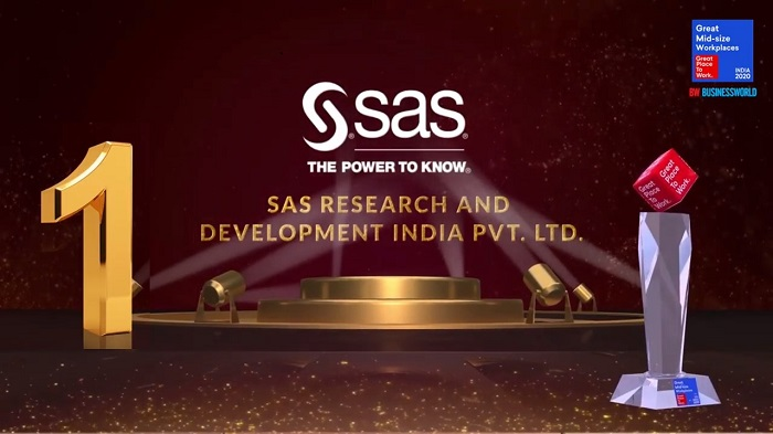 SAS Research and Development India Ranks No. 1 in India's Great Mid-size Workplaces