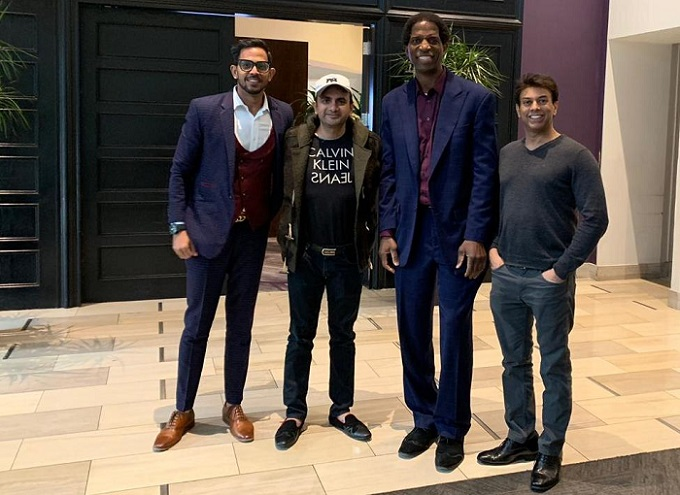 Rashid Ali Khan, Founder, Significant Sports with Basketball Legend AC Green and other officials from National Basketball Association