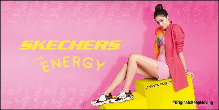 Brand ambassador, Ananya Panday launching the new Skechers Energy Racer Sneakers and Skechers D?Lites in India