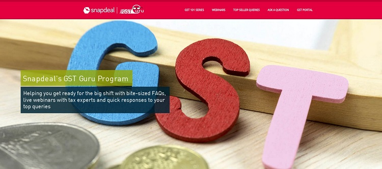 Snapdeal's GST Guru Program provides comprehensive information on GST requirements to online sellers