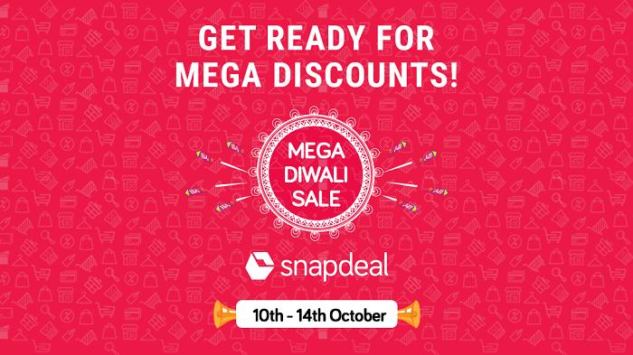 Snapdeal's Mega Diwali Sale kickstarts on 10th October