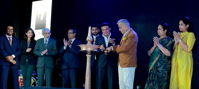 Mr. P.N.C. Menon, Chairman Emeritus, SOBHA Group and Mr. Ravi Puravankara, Chairman, Puravankara Group inaugurating the launch event of Marina One in Kochi. (L-R) Mr. Madhu Ramaswamy, Vice President & Head of Sales & Marketing – Kochi, SOBHA Limited; Ms. Amanda Puravankara, Director, Puravankara Group; Mr. Nani R. Choksey, Joint Managing Director, Puravankara Limited; Mr. J.C. Sharma, Vice Chairman and Managing Director, SOBHA Limited; Mr. Ravi Menon, Chairman, SOBHA Limited; Ms. Sobha Menon, wife of Mr. PNC Menon and daughter Ms. Revathi Menon are also seen