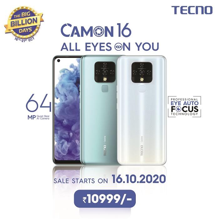 TECNO CAMON 16 Flipkart Sale