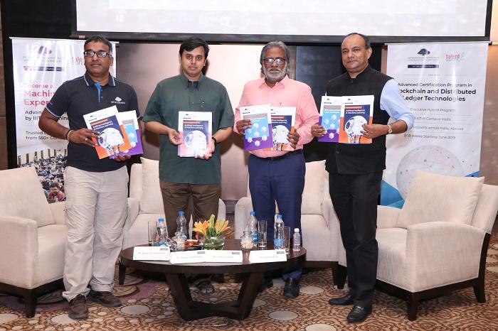 Prof. Ramesh Loganathan, Prof of Practice, Co-Innovations, IIIT Hyderabad, Anoop M. Namboodiri Associate Professor, IIIT Hyderabad, Asokan Pichai, Chief Product Officer, TalentSprint and Dr Santanu Paul, CEO and MD of TalentSprint