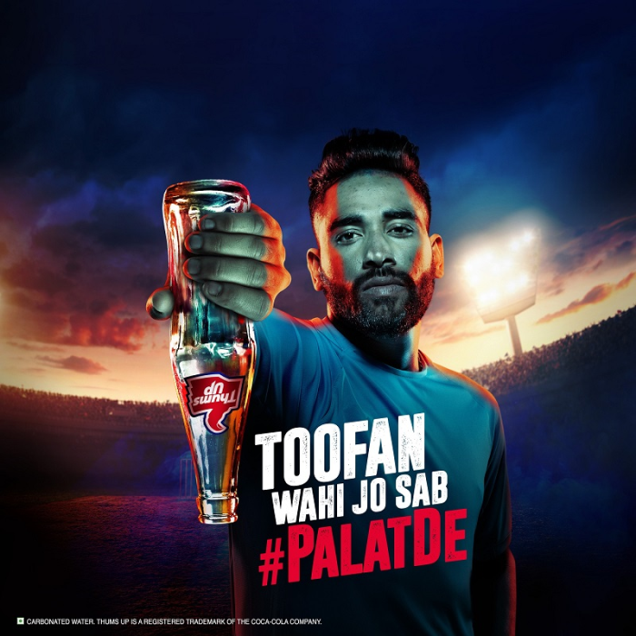 Thums Up partners with Mohammed Siraj