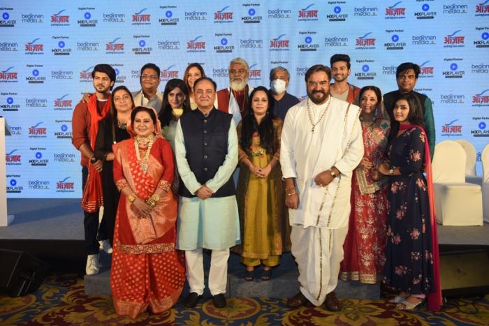 Beginnen Media I Azaad MD, Bharat Kumar Ranga and General Manager, Product, Doris Dey with producers and cast