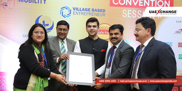 Mr. Sujith Kumar, Travel Head, Mr. Atul Aswal, Zonal Head North India, and Ms. Rose Beck, IATA Head-Delhi receiving the award