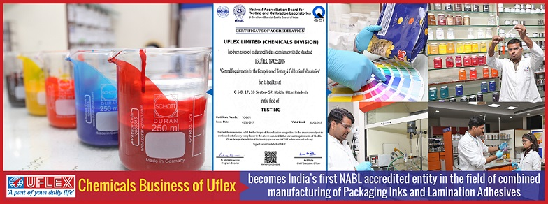 NABL Accreditation for Chemicals Business of Uflex Limited