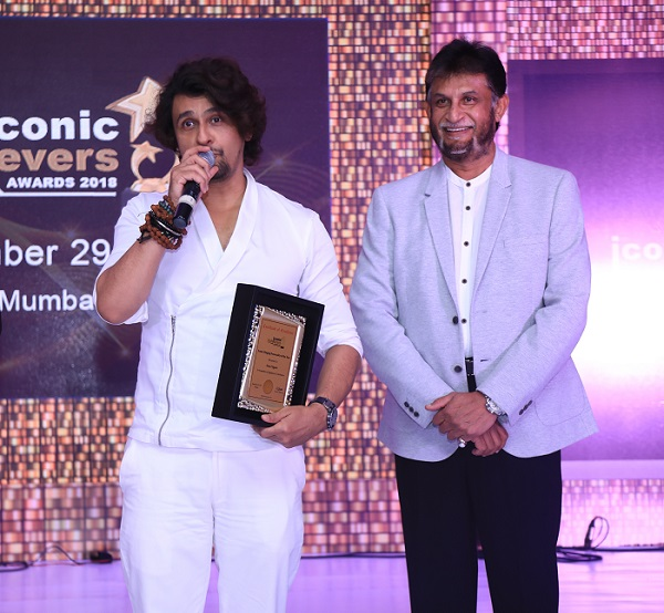 Mr. Sonu Nigam at Iconic Achievers' Forum 2018
