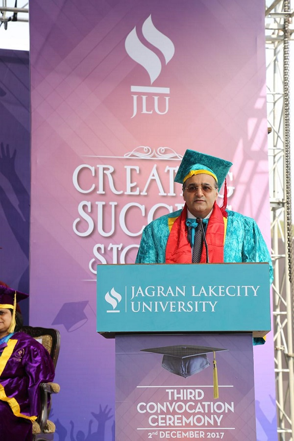Mr. Kapil Wadhawan, Chairman, Wadhawan Global Capital (WGC) conferred with an Honorary Doctorate in Management by the Jagran Lakecity University, Bhopal, India