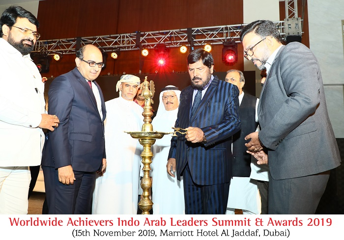 Lighting Lamp Indo Arab Leaders Summit Awards