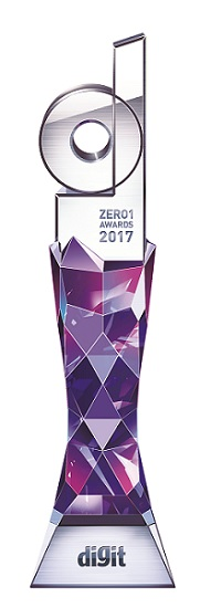 Zero 1 awards 2017 trophy