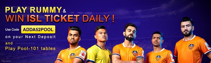 Play Rummy and Win ISL Ticket daily