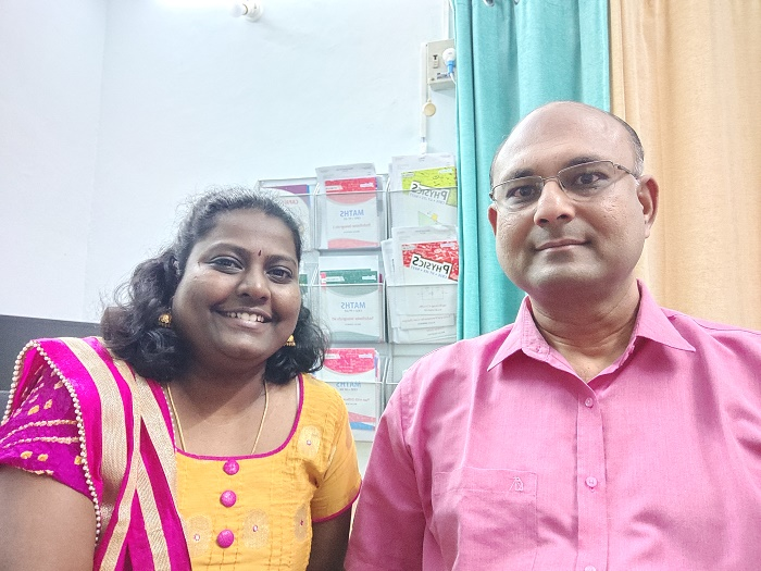 AhaGuru Founders Gomathi Shanmugasudaram and Balaji Sampath