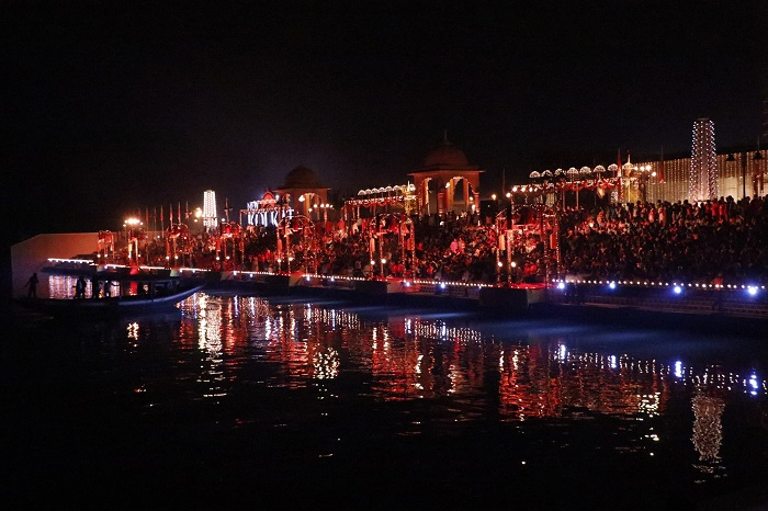 Ganga Arati at Alcove Realty's New Kolkata Sangam Launch