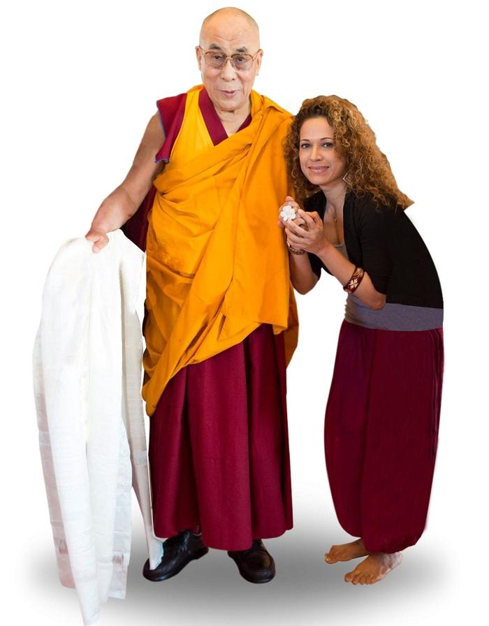 The 14th Dalai Lama with Avril Q