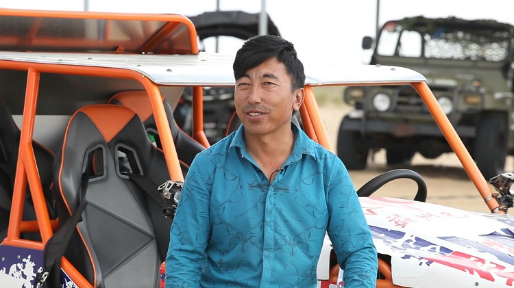 Babu with his off-road racing cars