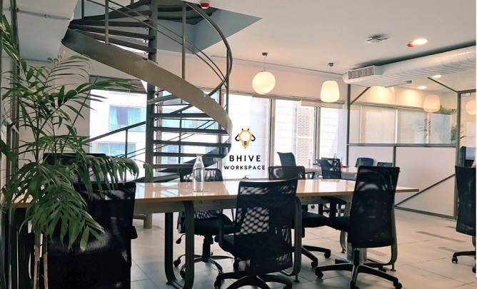 BHIVE Workspace's premium co-working space in CBD, Bangalore