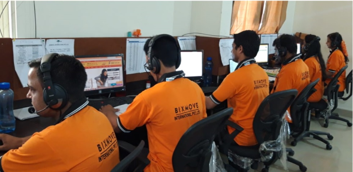 BixMove's Customer Support executives working round the clock