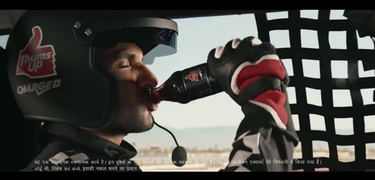 Thums Up Charged TVC featuring Ranveer Singh