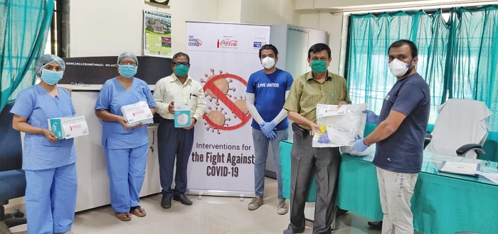 Coca-Cola partners with United Way Mumbai to provide PPE and hygiene aid kits to the frontline warriors during COVID-19 Outbreak