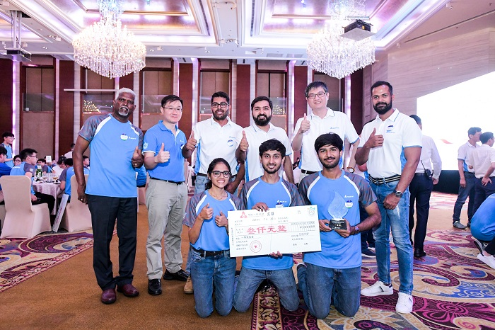 """The smart and energy-saving solar panel cleaning system built by the team """"The Neat Fleet"""" from the RV College of Engineering, India enters the final contest with the most votes from all participants, and receives the First Prize."""