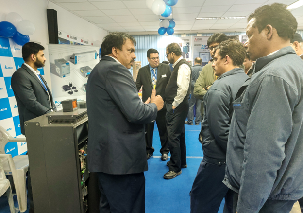 Tata Motor's Representatives at Delta booth during Energy Conservation & Renewable Energy Expo at Tata Motors Lucknow